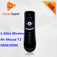 2.4Ghz Wireless Mini Air Mouse T2, 2.4Ghz RF Air Mouse Remote Control for Smart TV Samsung