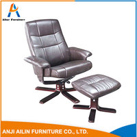 High quality leather recliner chair with ottoman living room rest chair