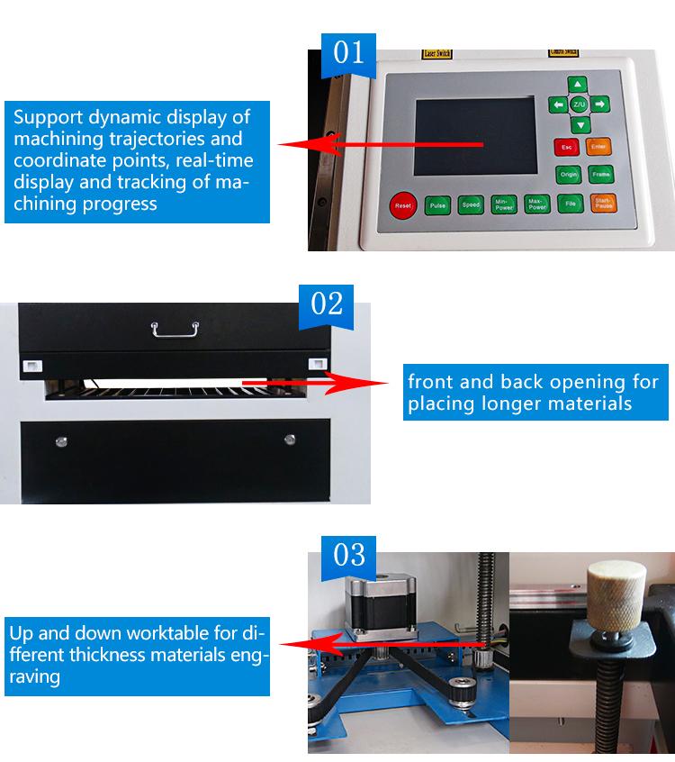 60W 6040 5030 Co2 wood pen laser engraving machine laser cutting machine