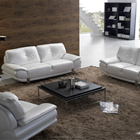 Contemporary european style armrest leather sectional sleeper sofa