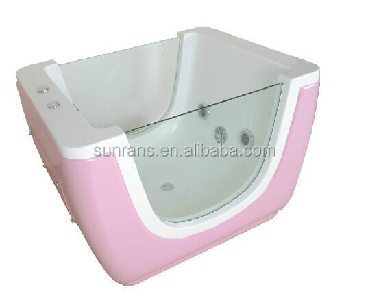 Hot Sale Freestanding Side Glass Bathtub for Standing Baby Bath ...