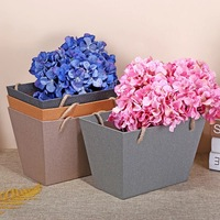Free Design!! Free Sample!!! Custom luxury pure color special paper flower bag with ribbons handle