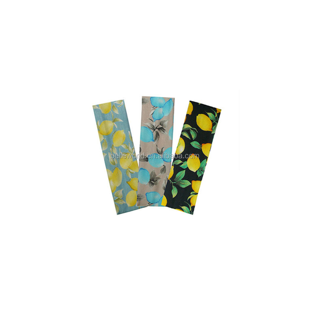 2018 Hot-selling banana fruit printed cotton stretch yoga sport headband