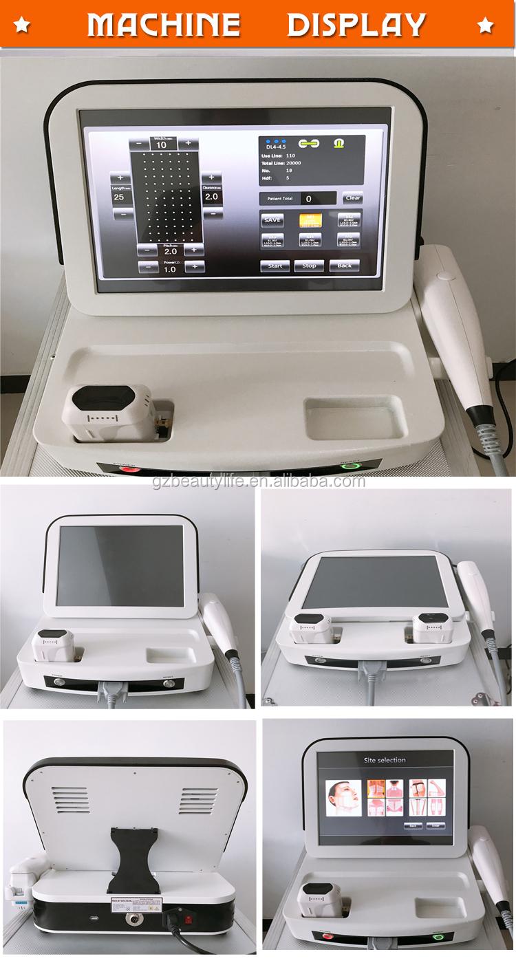 Portable 1-11 Garis Wajah Tubuh Mengangkat 3D 4D HIFU Mesin untuk Salon