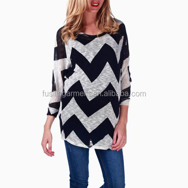 Ladies new big geometric pattern longsleeve Maternity tops , maternity blouse