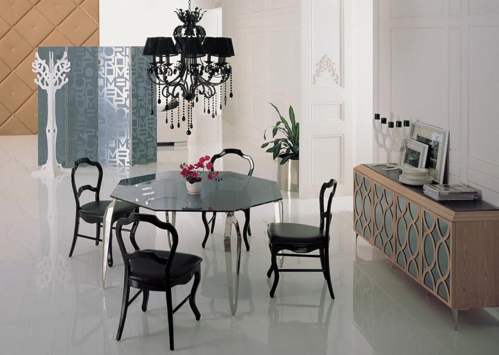 stainless steel dining room chairs | stainless steel Dinning table with dining room set with 4 ...