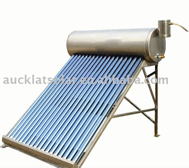 Low Pressure Solar Water Heater System with assisstant tank
