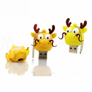 bulk 1gb usb flash drives cartoon dragon shaped usb sticks flash memories pvc cover 32gb 64gb 129gb for 2019 trendy kids gift