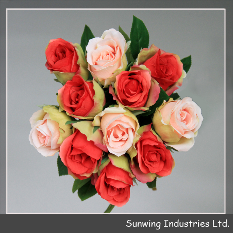 wholesale cheap rose artificial silk flowers for wedding decoration