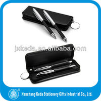 luxury businesss graduation gift set metal Leather Lover Pens