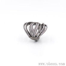 SC189 Fashion Handmade Unique CZ Diamond Inlaid Finger Ring Link Multi Circle Wrap Ring