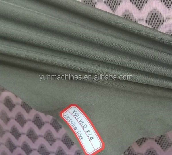 YSILVER83# Two-way stretch spandex Elastic Fabric 100% Silver Fiber Fabric EMF Shielding Fabric
