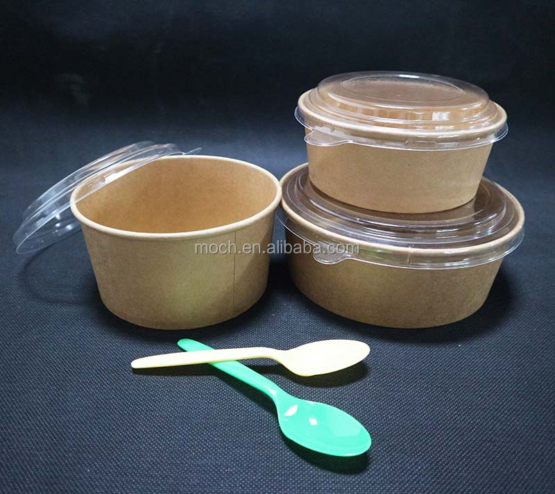 To Go Disposable Kraft Paper Bowls Biodegradable Compostable Salad Bowl