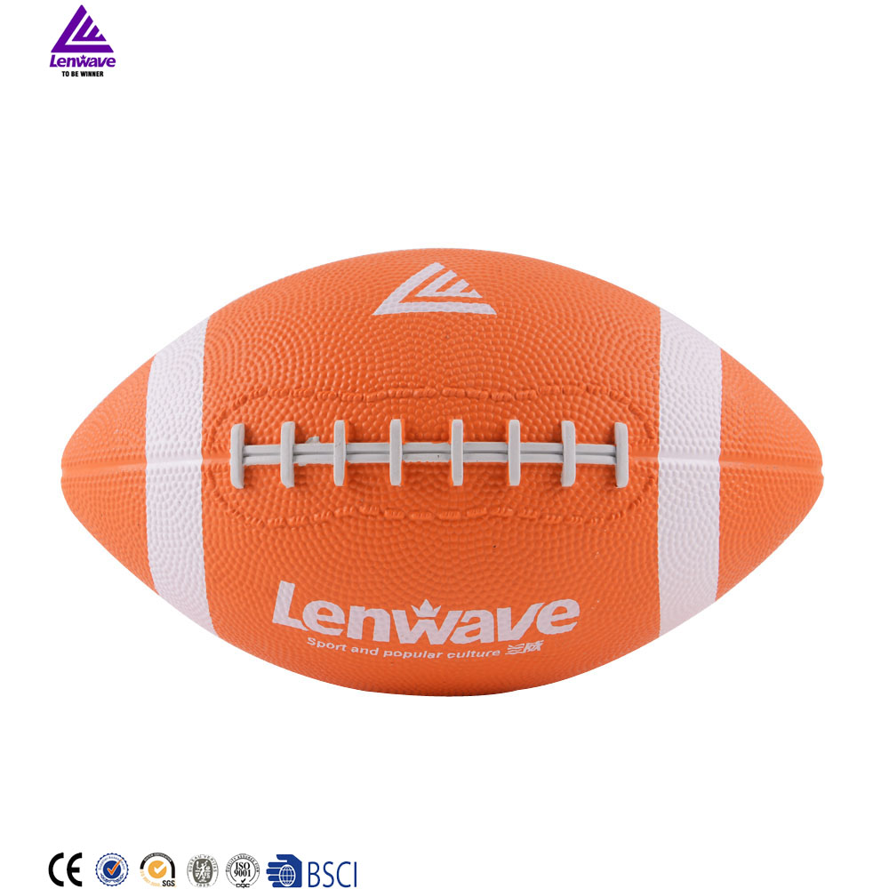 lenwave brand promotional cheap rugby custom printed mini rugby ball