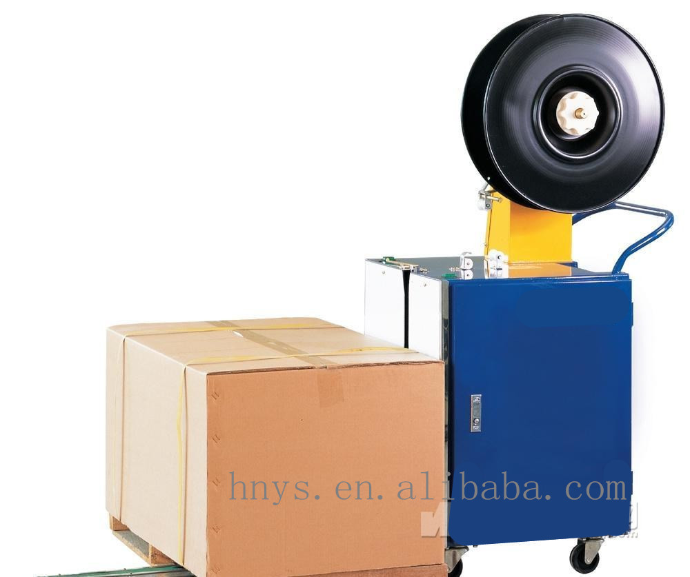 Semi automatic strapping pallet packing machine for carton