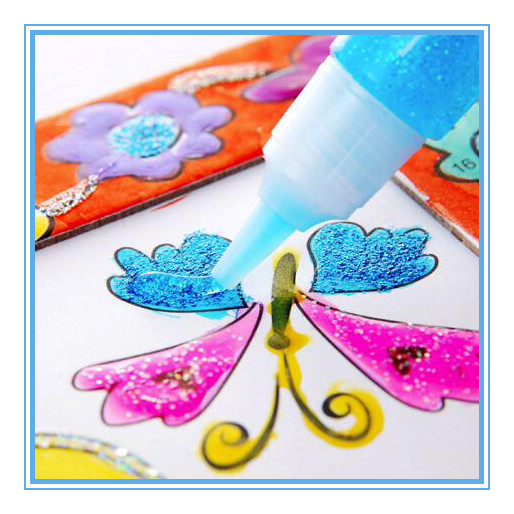 2016 New Popular Factory High Quality Washable Children DIY Glitter Glue 3D effect Fabric Craft Art paint