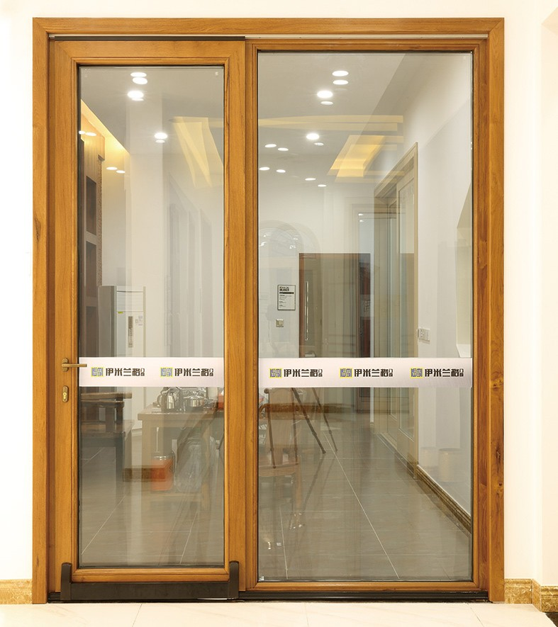 Low price philippines design wood clad aluminum sliding for Aluminum sliding glass doors price