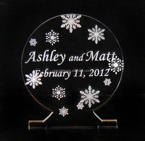 Single Name Date Intials Acrylic Butterfly Crystal Wedding Cake Topper with Changeless Base