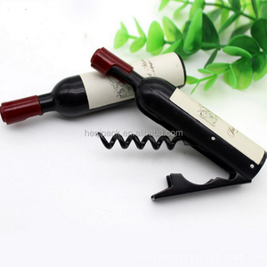 Label customized mini plastic red wine opener corkscrew