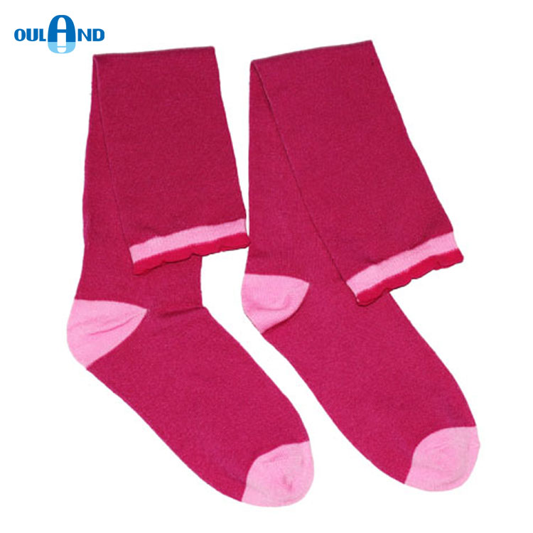 Fashion candy color, support make samples poly knit girl's dress socks