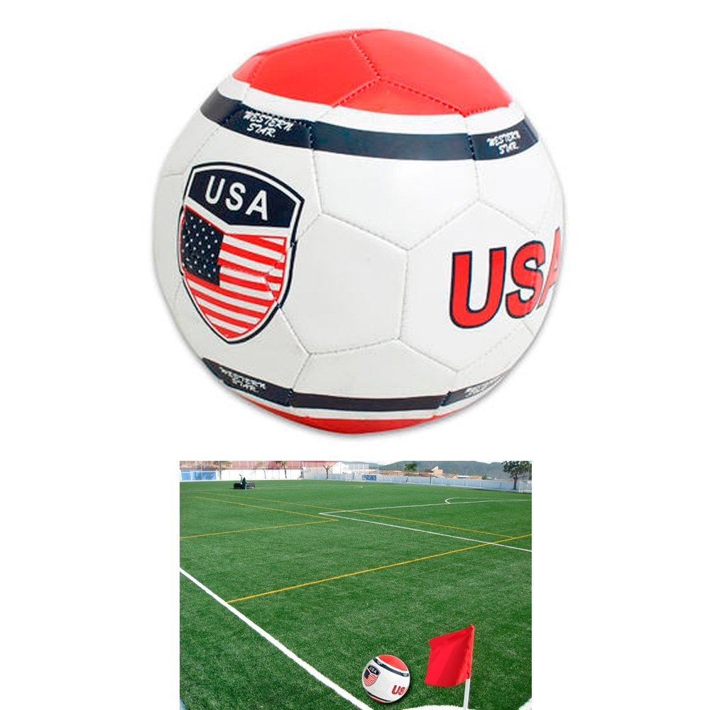 USA Soccer Ball Print Flag World Cup Game Sports Field Fun Match Size 5 New !