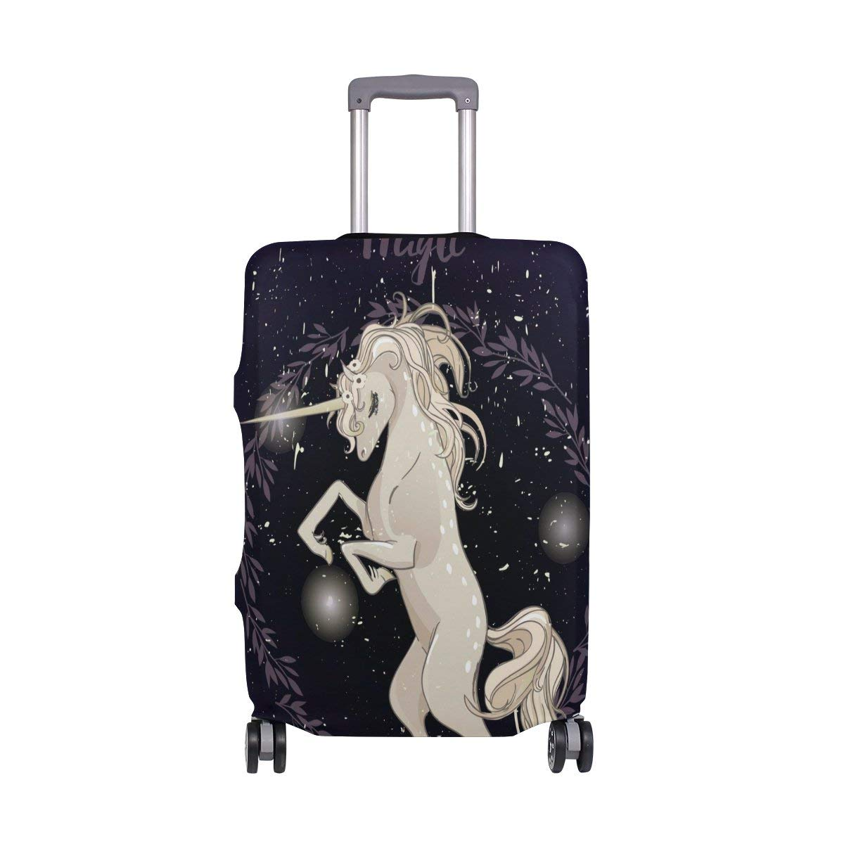 7c934919e Get Quotations · ALAZA Luggage Covers White Unicorn Luggage Covers  Protector Spandex Fit 18-32 inch