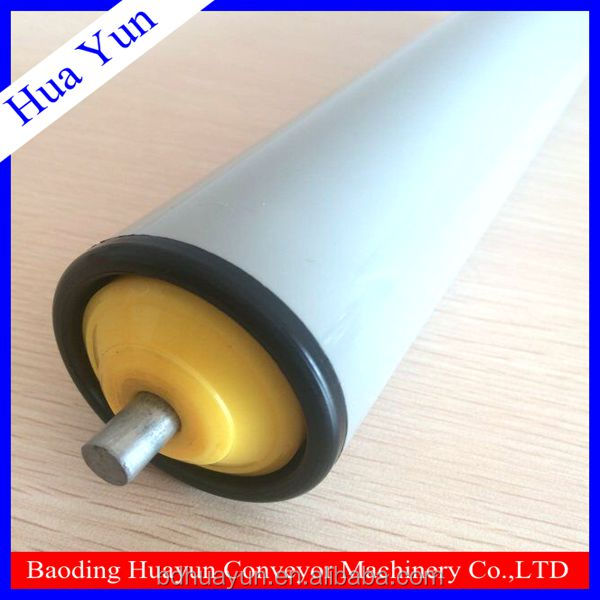 25mm Dia Spring Loaded PVC Roller Plastic Gravity Conveyor Roller for Feed Roller Conveyor