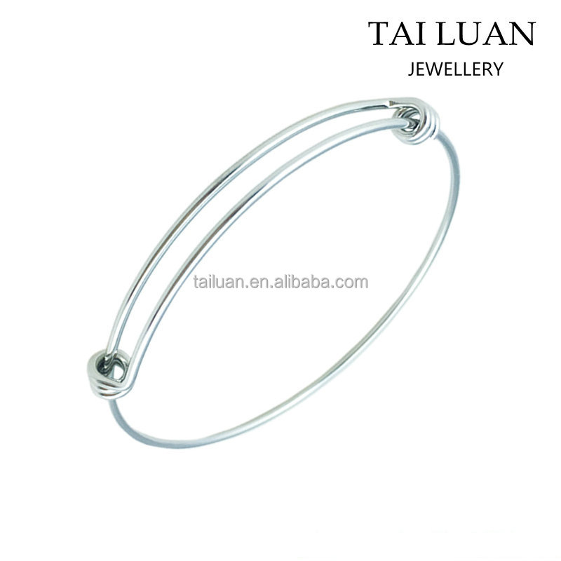 Yiwu supplier cheap expandable adjustable wire bangle bracelet wholesale