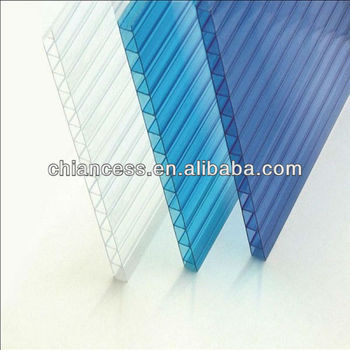PC Twin wall Roofing Polycarbonate Hollow Sheet from 4 to 10mm