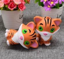 2018 New Toy For Stresser Soft Slow Rising Animal Tiger Kawaii Squishy Toy Fashionable Gifts Keychain