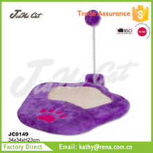 simple design,purple cat scratcher, cat toy with BSCI SEDEX