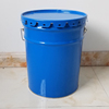 Metal paint barrel with lid and handle