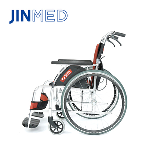 Aluminum rehabilitation brake folding manual wheelchair with disabled person