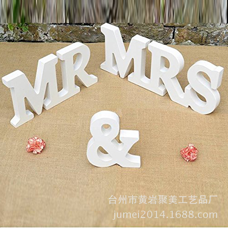 Dear Mrs Mr Cover Letter: 1set 250g Large Wooden Letter White Mr & Mrs Wedding