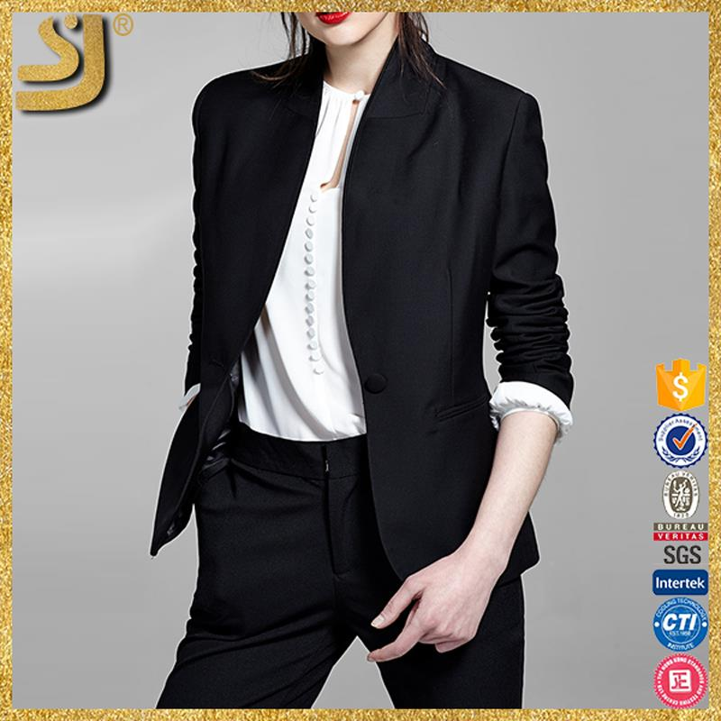 Shangyi Black Leather Jackets For Boys,Long Blazer With Button ...