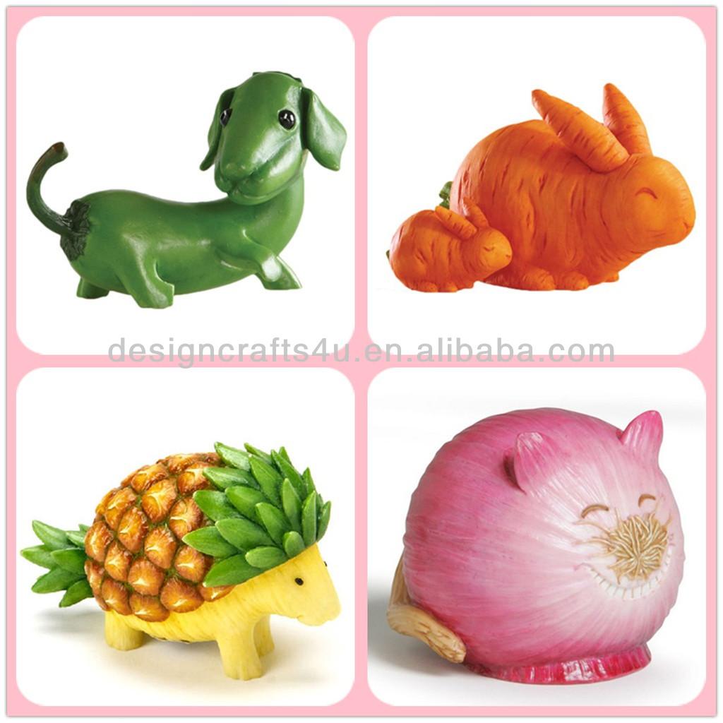 Resin Figurine Vegetable Animal Mushroom Lion