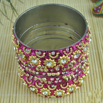 Vintage Gold Bangle Sets Pakistan Ethnic Jewelry Exotic Bracelet