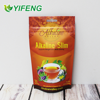 China Factory Heat Sealable Compound Logo Printing Stand Up Customized Foil Food Coffee Tea Bag / Pouch With Zipper