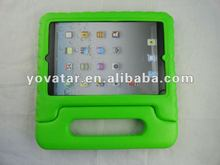 2012 New Green Portable EVA Foam Shockproof Cute Soft carrying case for iPad mini special for children gift