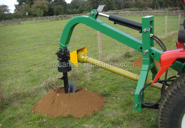 Tractor 3 Point Post Hole Digger With Hydraulic Cylinder