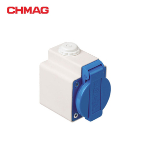 IEC CEE schuko socket male industrial socket 2-pole protection 220-240v 16a 2p+e
