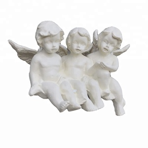 Home Indoor High Vivid Cherubs Polyresin Angel Table Decoration