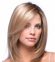 High quality blonde human hair full lace wig , Cheap 27#/30# mix color full lace wig for white women human hair