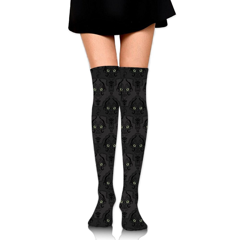 Zaqxsw Skull Women Retro Thigh High Socks Thermal Socks For Ladies