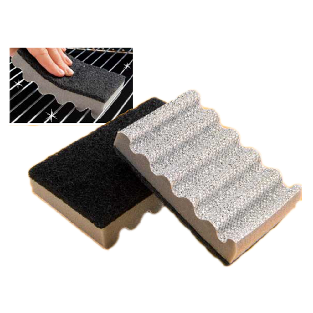BBQ Oven Mate Grill Cleaning Scrubbing Sponge Scourer With Grooves
