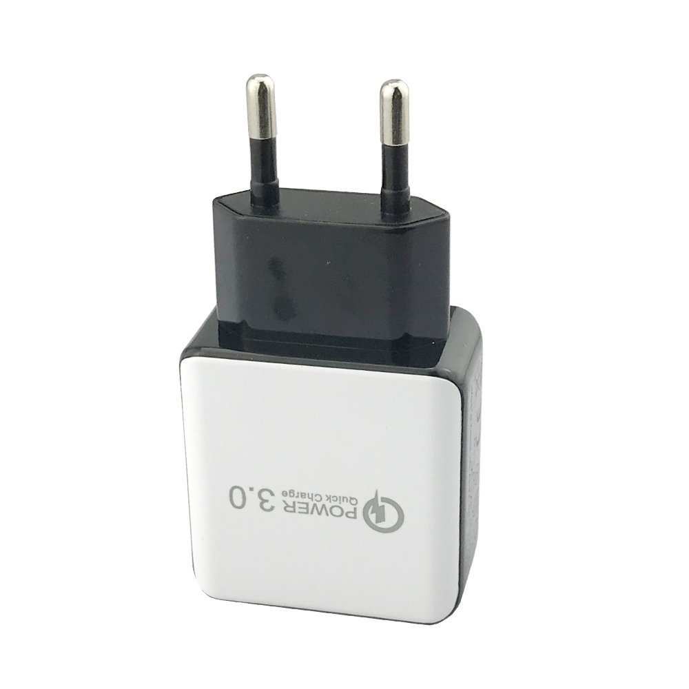 NewSilkRoad 18W Quick Charge 3.0 USB Wall Charger Adaptive Fast Travel Charger QC 3.0 for Samsung S6 S7 S8, Note 5,Note 8,iPhone 8 iPhone X and other QC 2.0 Phones,European Plug(EU plug) (White)