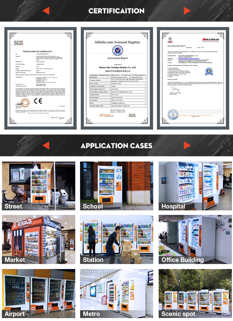 AFEN medical products phone card condom vending machine with gprs