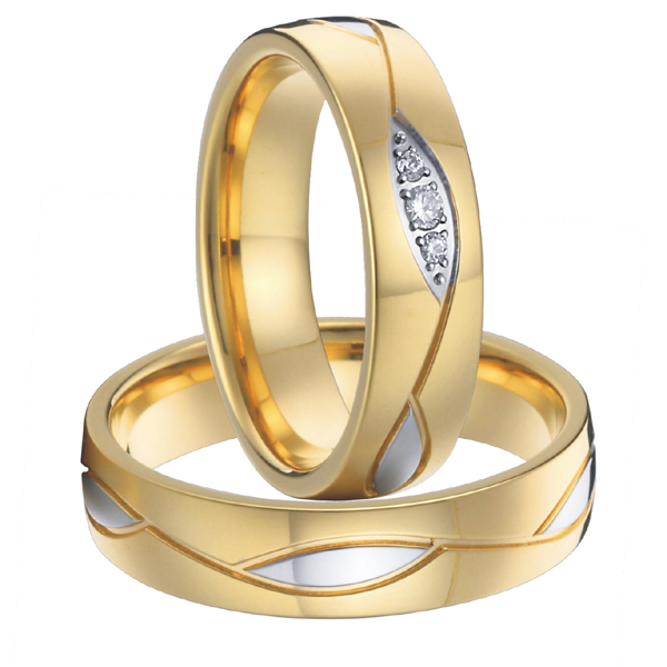 get quotations high quality 18k gold plated health titanium engagement wedding bands promise rings set for men and - Cheap Wedding Ring Set