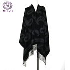 Cheap jacquard scarf extra long colors pashmina shawls for ladi scarf winter