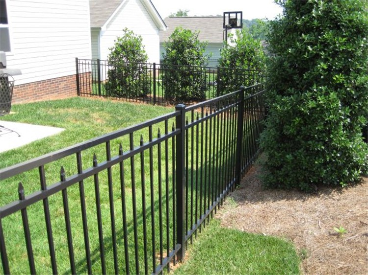 High quality powder coated security wrought iron gate